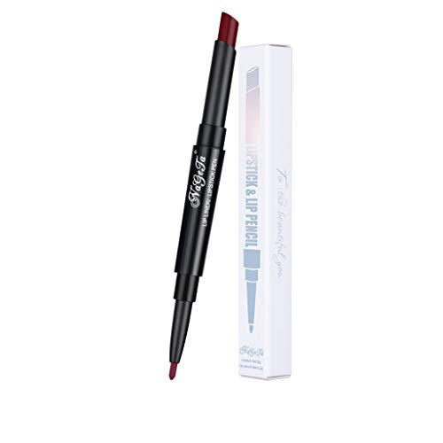 Muyise Rouge à Lèvres Longue Tenue Ventes Double Fin Crayon À Lèvres Imperméable À l'eau Double Lèvres À Lèvres(Multicolor,K)