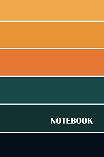Notebook: Vintage Rainbow Composition notebook -Lined Notebo