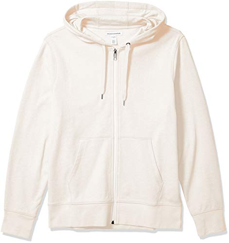 Amazon Essentials Lightweight French Terry Full-Zip Hooded Sweatshirt Fashion-Hoodies, beige, US M (EU M)