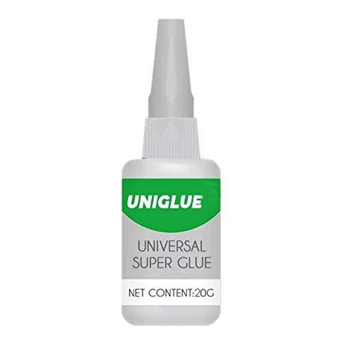 Pegamento Fuerte, Super Glue, Pegamento De Cianoacrilato Versátil, Tapa Anti-obstrucción De Fraguado Rápido Superpegamento Universal Para Manualidades Cerámica Vidrio Plastico Reparación
