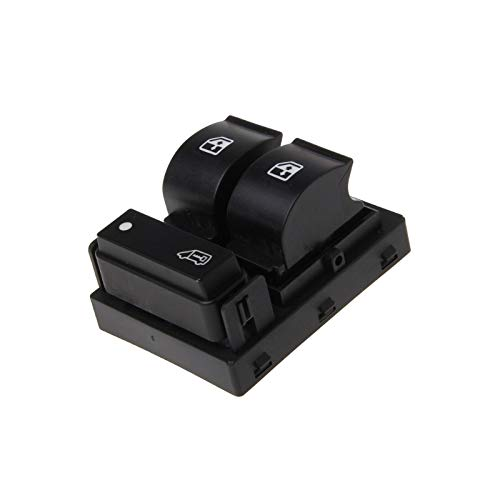 CROSYO 1pc 3 Button Front Dry Dry Driver Window Switch Interruptor Controlador eléctrico Interruptores Maestros 735421419 for Fiat DoBlo Ducato (Color : Negro)