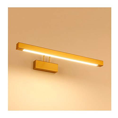 Het voorlicht met spiegel heeft de eenvoudige zwenkarm gestart, modern, waterbestendig, condensvrij en heeft de wandlamp voor spiegel goud (editie: warm licht).