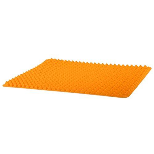 CUHAWUDBA Silikon-Antihaft-gesunde Kochen Backmatte mit Pyramide Oberflaeche-16 Zoll x 11 Zoll (orange)
