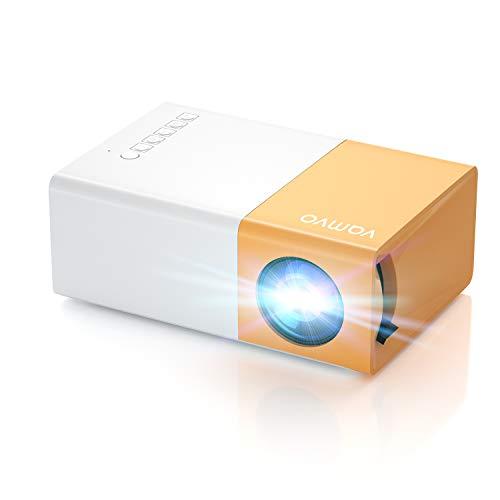 Proiettore Vamvo, Mini Proiettore YG300 pro, Videoproiettore di Film Portatile 1080p Supportato, Ideale per Regalo Bambini, Regalo di Natale, Ricaricabile, Compatibile con Smartphone/USB/HDMI/SD/AV