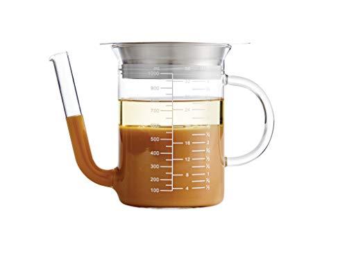 HIC Harold Import Co Glass 32 Ounce Gravy Strainer