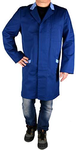 Iwea Stabiler Arbeitsmantel Berufsmantel Kittel Mantel Arbeitsbekleidung Workwear, Hellblau, 52