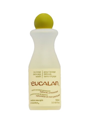 Eucalan Delicate Wash - Natural Unscented Small 3.3oz/100mL Bottle