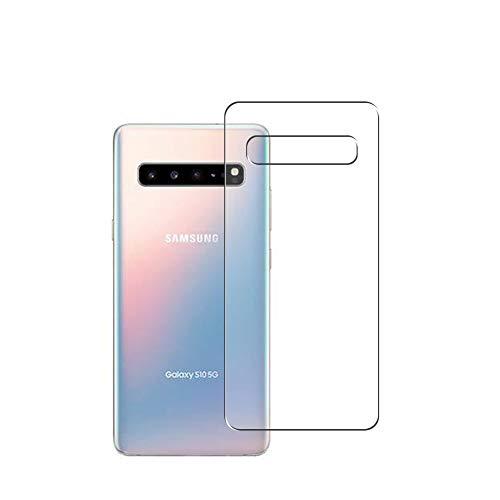 Vaxson 2 Unidades Protector de pantalla Posterior, compatible con Samsung Galaxy S10 5G SM-G977N G977U [No Vidrio Templado] TPU Película Protectora Espalda Skin Cover