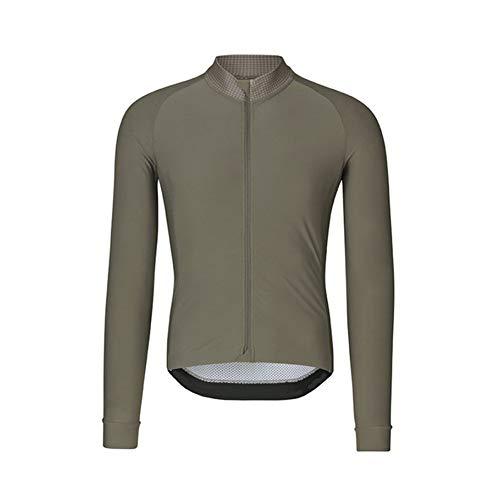 Maillot devélo pour Hommes Brassard élastique Respirant à séchage Rapide vêtements de Cyclisme avec Fermeture à glissière extérieure Coupe-Vent vêtements de Sport vêtements de Sport