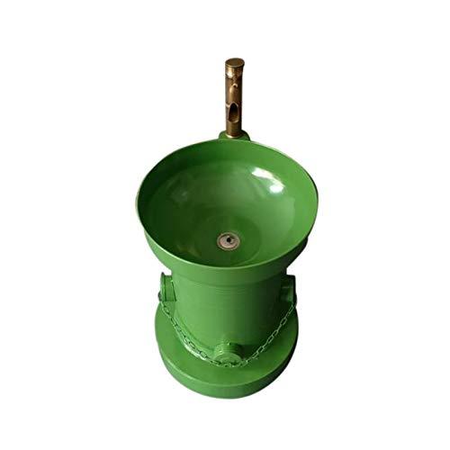 Lavabo con grifo, Boca de incendio Planchar Lavar manos Metal Estilo retro Niños Niño Lavabo (Color : Verde)
