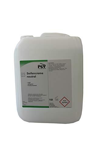 Seife - NEUTRAL parfümfrei - Cremeseife Seifencreme Flüssigseife 10 Liter Kanister (1 x 10 Liter)