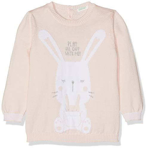 UNITED COLORS OF BENETTON Sweater L/s Pull, Rose (Rosa Tenue 911), Unique (Taille Fabricant: 56) Bébé Fille