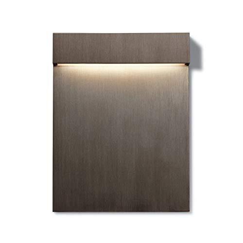 Aplique con cuerpo de acero inoxidable, colección Real Matter, 3W, 3000K, cepillado, 1,5 x 11,5 x 15 centímetros, color bronce (referencia: F5961046)