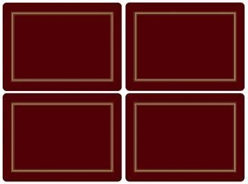 Pimpernel Classic 5 ☆ very popular Burgundy Placemats Ds Max 60% OFF Of by s Set 4