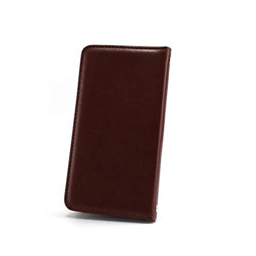ホワイトナッツ iPhone7 ケース 手帳型 【左利き】 ベルトなし スタイリッシュ ブラウン スマホケース アイフォンセブン 手帳 カバー スマホカバー WN-OD495938_ML