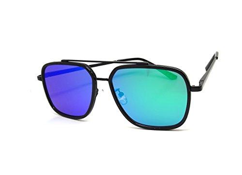 Gafas de sol para hombre y mujer, rectángulos SWAG KAZAL UV espejo, flasty fina.