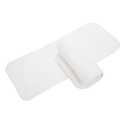 Wiederverwendbare Adult Windel, Polyester-Tuch Breathable Leakfree Pocket Windel waschbar Cover Windel Tuch für Inkontinenz-Pflege mit verstellbaren 3 Reihen von Snaps(2 Windeln)