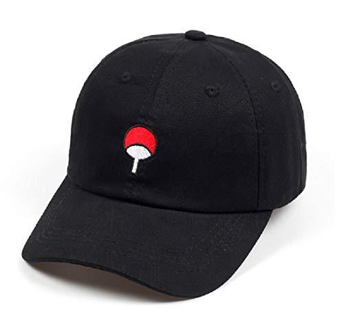 RyuLifeStyle Cotton Akatsuki Anime Naruto Dad Hat Uchiha Family Shippuden Embroidery Baseball Caps Adjustable Snapback Hats (Black)