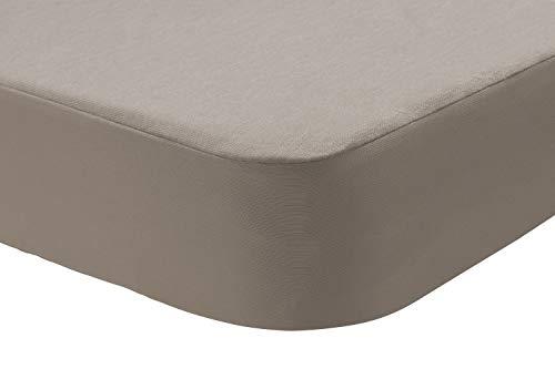 Pikolin Home - Sabana bajera protector Lyocell 2 en 1, impermeable e híper-transpirable. 150x190/200, color lino (Todas las medidas)