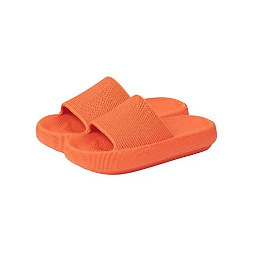 CYJX Cozislides Original Super Soft Home Slippers for Women Man Soft Shower SPA Bath Pool Gym House Sandals for Indoor & Outdoor (44-45,Orange)