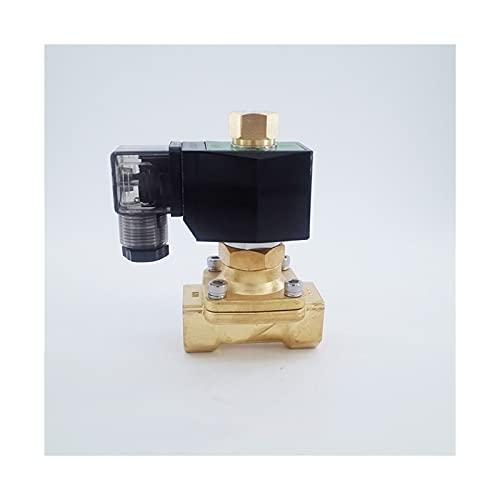 Ventiler, beslag 2Way mässing normalt Öppna 12V vatten solenoidventiler gas 1inchöppning 25 mm noll tryck start (Voltage : DC24V)