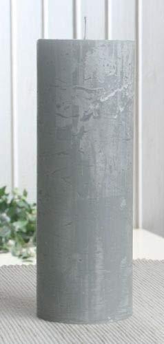 Rustik-Stumpenkerze, 20 x 7 cm Ø, grau