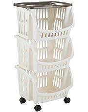Bama Tidy wózek kuchenny z kółkami i tacą, taupe, jeden rozmiar