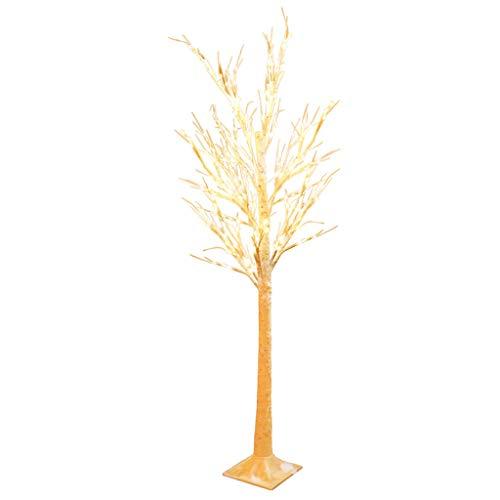 1.70 m blanc chaud arbres de rameau de Noël (lampadaire de style de bois mort de style table de noël à LED)