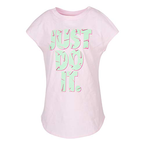 NIKE Children's Apparel Girls' Toddler JDI Graphic T-Shirt, Pink Foam, 3T