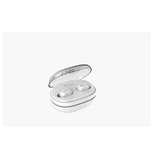 WE - Auriculares inalámbricos Bluetooth 5.0 con 6 Horas de autonomía, emparejamiento automático, estéreo Hi-FI para iPhone y Android – Color Blanco