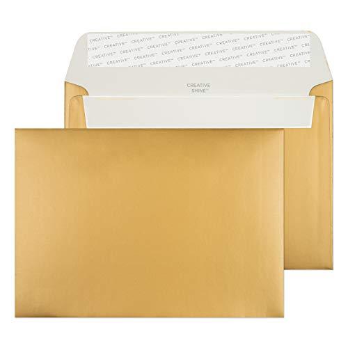 Creative Shine 15113 Briefumschläge Haftklebung Metallisch Gold C6 114 x 162 mm 130g/m² | 25 Stück
