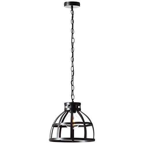 BRILLIANT lamp Magda hanglamp 30cm zwart |1x G95, E27, 40W, geschikt voor standaardlampen (niet inbegrepen) |Schaal A ++ tot E |In hoogte verstelbaar/ketting inkortbaar