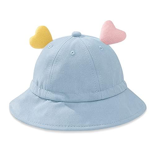 DXQDXQ Gorras Sombrero Pescador para Bebés Verano UPF 50+ Gorro de Sol con Correa de Apriete Ajustable y Orejas Amorosas Bucket Hat de Playa para Infantil Niño Niñas Piscina Viaje