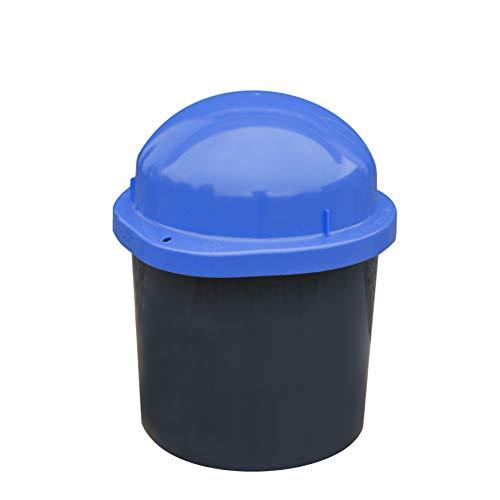 KUEFA Duo Mini - Wetterfester Mülleimer/Aufbewahrungsbehälter/Sammeltonne (Blau)