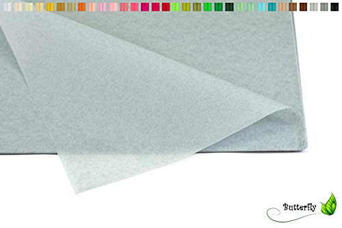 Creativery Seidenpapier - Tissue Papier 50 x 75cm 10 Bögen Gestalten Dekorieren Vepacken bunt Farbe hell Silber grau 012H