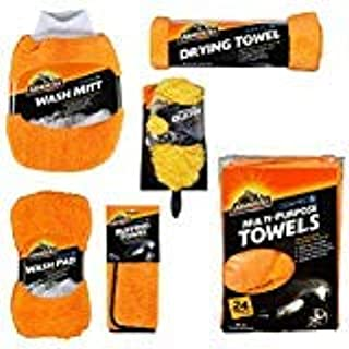Armor All Microfiber Car Cleaning Towels Kit, Cleaner for Bugs, Dirt & Dust, For Cars & Truck & Motorcycle, Includes 29 pi...