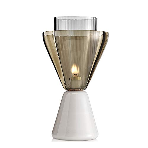 SXNYLY Nórdico Minimalista LED lámpara de cabecera de Cristal lámpara de Mesa Moda Personalidad Cama Dormitorio de la lámpara de Luces de la decoración del Hotel Bar