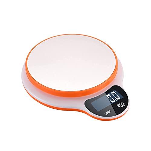 Escala de cocina Mini Food Scale Alimento Libreto dijo que los ingredientes dicen escamas de la cocina portátil de la cocina de la casa electrónica Escalera de cocción de la cocina (color: naranja)