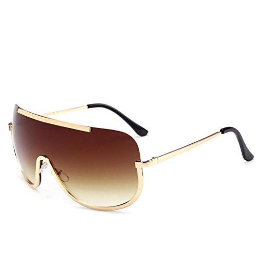 Btruely Vintage Sonnenbrille Herren Damen Polarisierte Sonnenbrille Männer Frauen Fahrbrille 2018 Klassische Sportbrille Retro Aviator Spiegel Objektiv Sonnenbrillen (Braun)