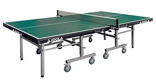JOOLA Tischtennistisch World Cup 25-S | Indoor Tischtennisplatte ITTF Wettkampf Zulassung | Klappbares Untergestell - Schneller Aufbau, Grün, 25 MM Plattenstärke
