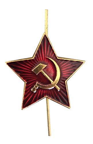 Ganwear® Original russische sowjetische rote Armee Militär große rote Stern UdSSR Cockade Kosaken Hut Metalll Brosche Abzeichen