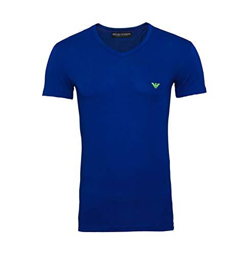 Emporio Armani T-Shirt V-Neck 110810 9P723 15834 blau (XL)