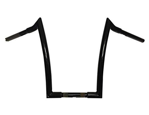 Dominator Industries 1 1/4 Meathook Monkey Ape Hanger Handlebar, 16' Rise, Compatible With 1996-2017 Dyna, Softail, Sportster 1998-2013 Road Glide, 2018 2020 Street Bob, Slim, Heritage King (Black)