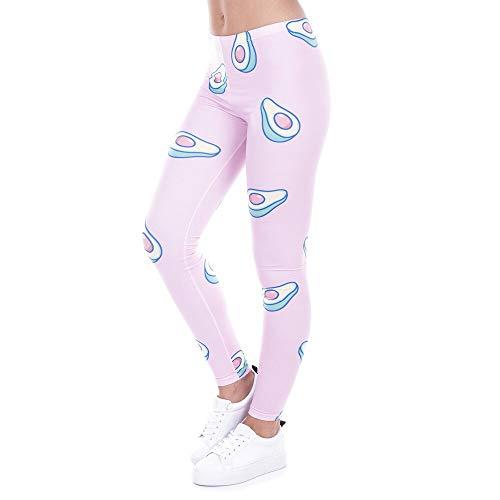 PFJWFE Marke Mode Gedruckt Frauen Legging 100% Marke Neue Leggings Avocado Rosa Leggins Sexy Schlank Legins Hohe Taille Frauen Hosen