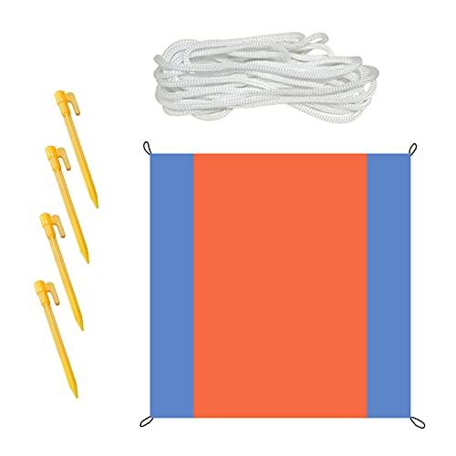 Qiujing Manta de playa, manta de picnic, a prueba de arena, impermeable, para playa, picnic, para viajes al aire libre, camping, 2 x 2,1 m