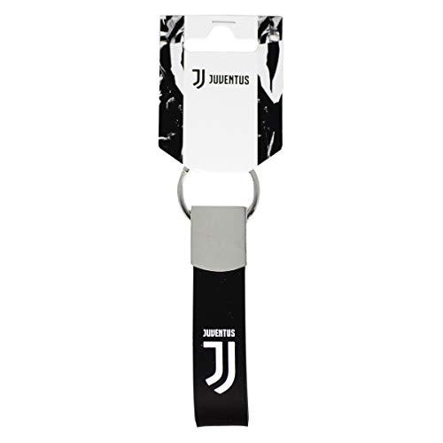 """Juventus F.C. - Schlüsselanhänger aus Metall und Gummi mit """"Juventus""""-Schriftzug - offizielles Juventus-Produkt"""