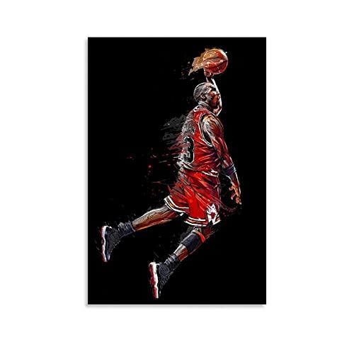 ZXCMNB Michael Jordan Wallpaper Poster Pintura Decorativa Lienzo Arte Pared Sala Póster Dormitorio Pinturas 30x45 cm