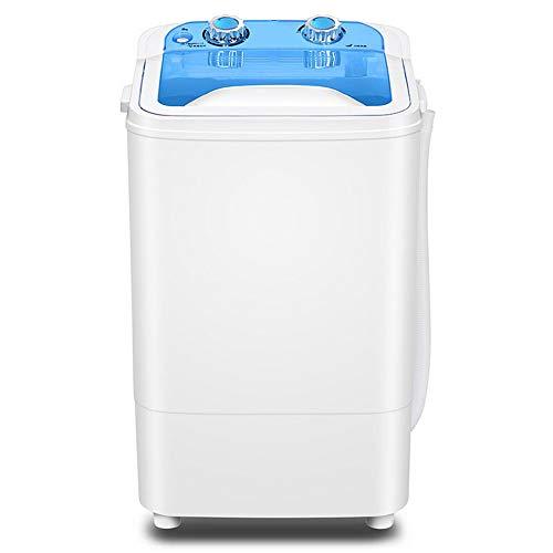 Global Single-Barrel halbautomatische Mini-Waschmaschine, voll integriert Portable kompakte Bauweise 4,5 kg große Kapazität mit Timing-Funktion (blau) für Schlafzimmer Wohnzimmer Balkon Bad usw.
