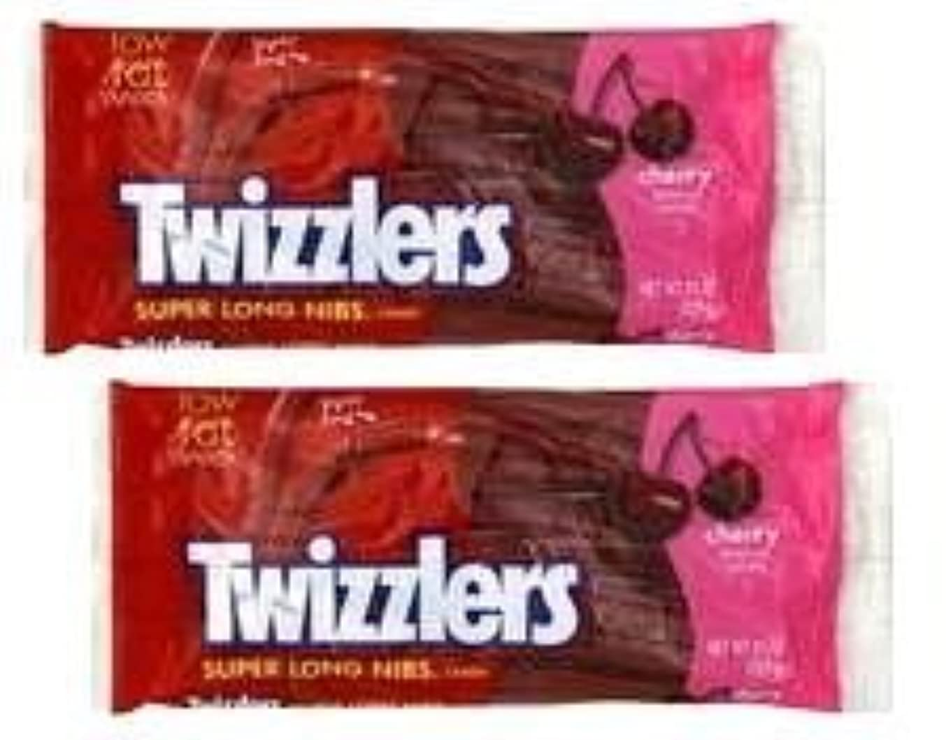 Twizzlers Super Long Cherry Nibs (11 oz Bags) 2 Pack