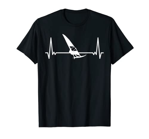 Latido Del Corazón Surf Latidos Del Corazón Windsurfing Camiseta